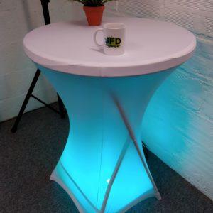Table éclairée led